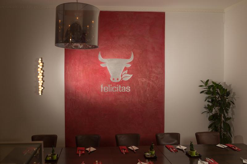Wandgestaltung eines Restaurants