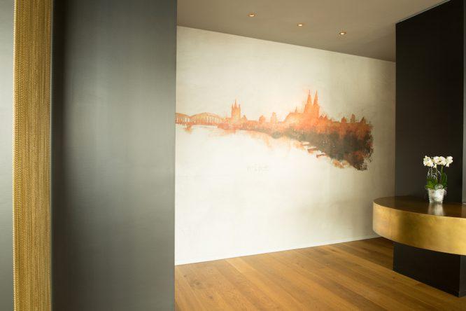 Wandgestaltung im Restaurant Maximilian Lorenz - Eingangsbereich