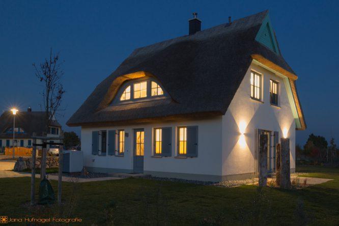 Ferienimmobilie Nautilus am Rügenblick21 - Aussenaufnahme Abendstimmung